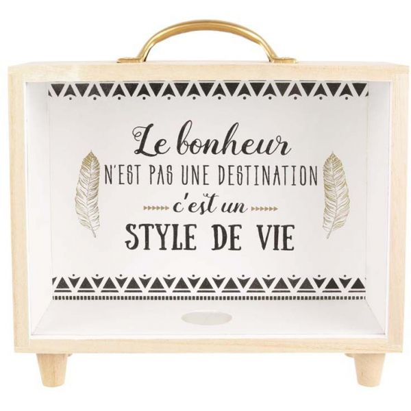 Tirelire en forme de valise - THE HOME DECO FACTORY