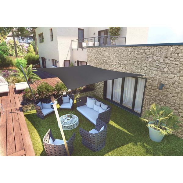 Voile d'ombrage rectangle 3 x 4,5m - SUN-0115