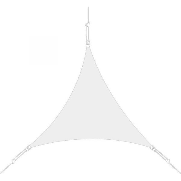 Voile d'ombrage triangle 3 x 3 x 3m