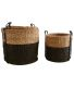 Cache-pot ronds en jonc de mer (Lot de 3)
