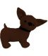 Cale porte chihuahua en polyester (Chocolat)