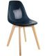 Chaise scandinave assise noire transparente