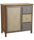 Commode 1 porte 3 tiroirs en pin Antique