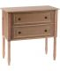 Commode 2 tiroirs en bois Brice (Naturel)