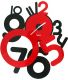 Horloge contemporaine Freaky (Rouge)
