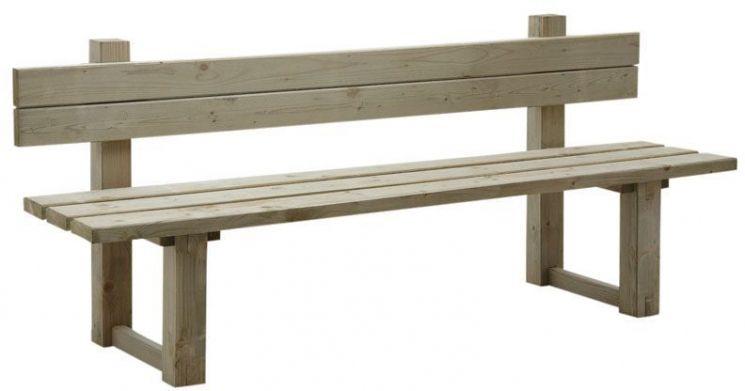 Banc de jardin avec dossier en bois trait autoclave vert gris for Banc de jardin en bois exotique