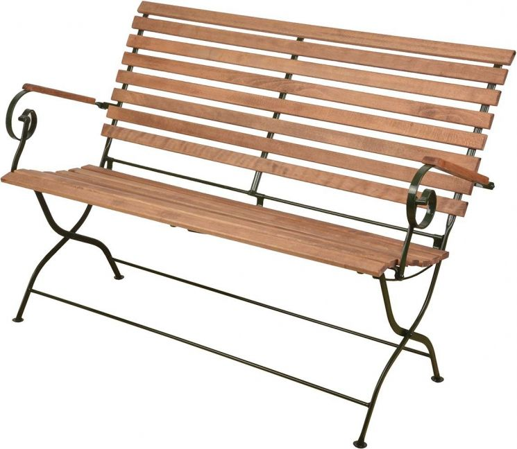 banc pliable en bois et m tal vert. Black Bedroom Furniture Sets. Home Design Ideas