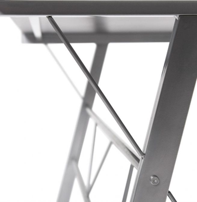 bureau d 39 angle design delo noir. Black Bedroom Furniture Sets. Home Design Ideas