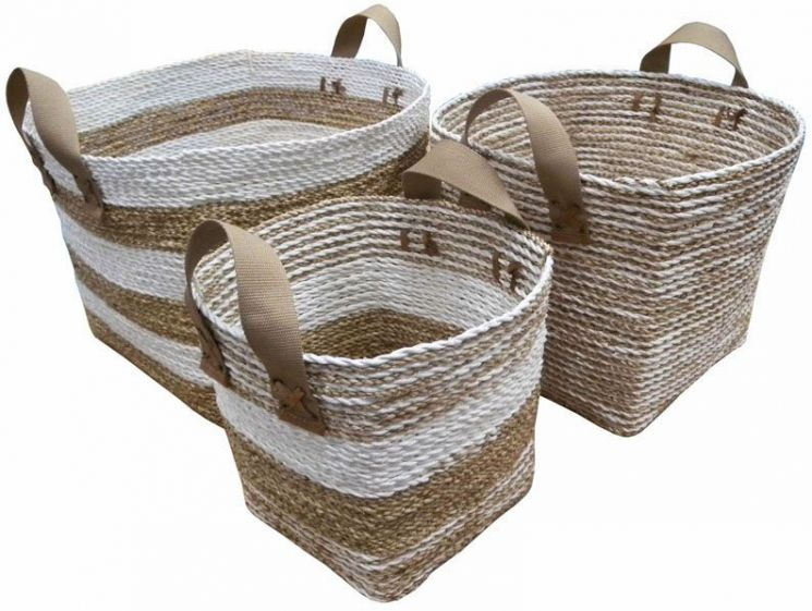 Cache-pot en corde et nylon (Lot de 3)