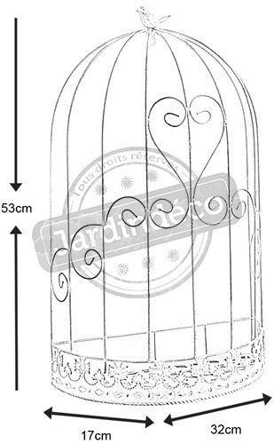 cage murale d co oiseau en m tal taille 1. Black Bedroom Furniture Sets. Home Design Ideas