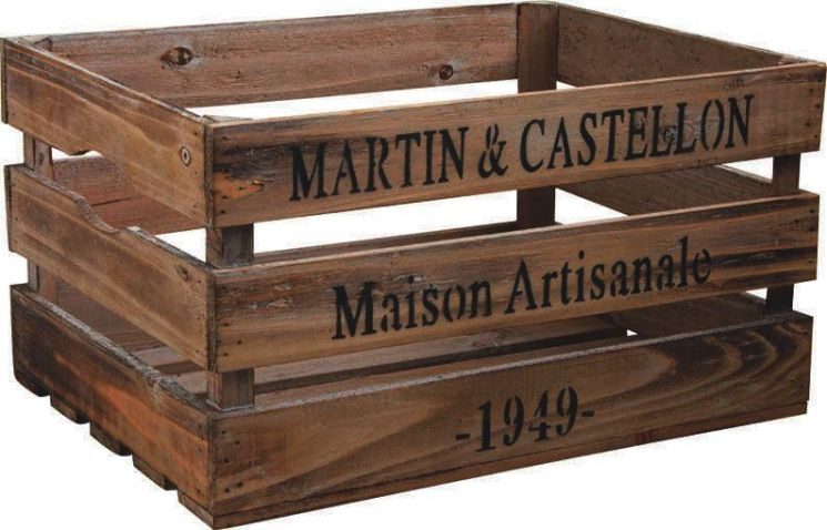 caisse en bois maison artisanale. Black Bedroom Furniture Sets. Home Design Ideas