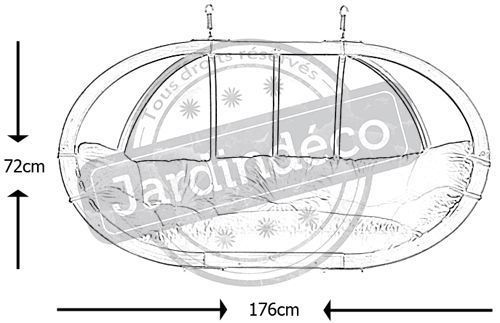 Canapé suspendu Globo royal - AMZ-0131