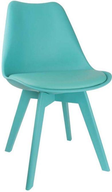 Chaise unicolore design bleu turquoise for Chaise design colore