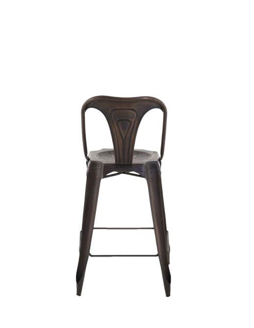 chaise de bar esprit industriel lot de 2 cuivre vieilli. Black Bedroom Furniture Sets. Home Design Ideas