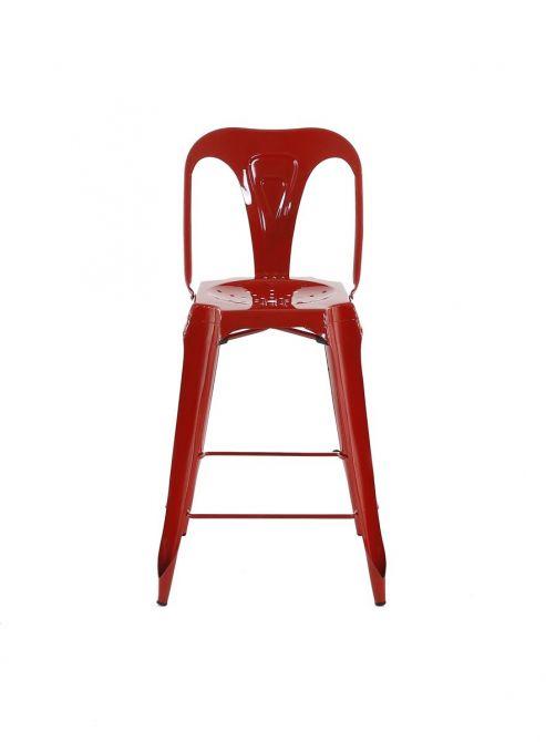 chaise de bar esprit industriel lot de 2 rouge. Black Bedroom Furniture Sets. Home Design Ideas