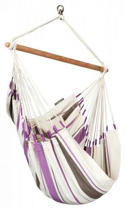 chaise hamac caribena violette. Black Bedroom Furniture Sets. Home Design Ideas
