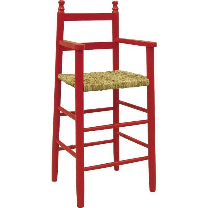chaise haute pour enfant en h tre rouge. Black Bedroom Furniture Sets. Home Design Ideas