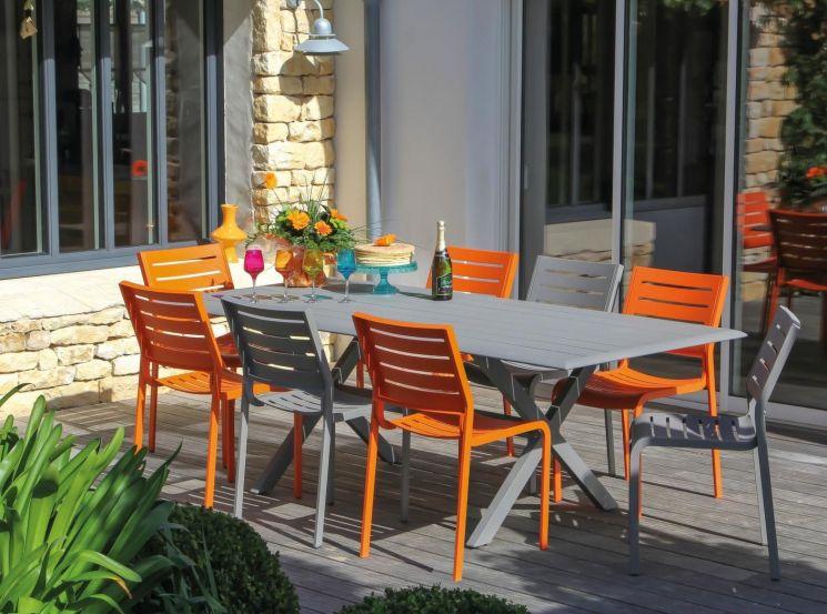 Chaise de jardin design belhara - Mobilier de jardin colore ...