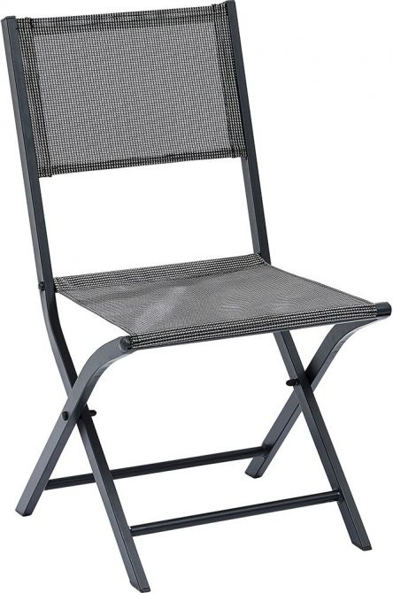 chaise pliante modulo lot de 2 gris. Black Bedroom Furniture Sets. Home Design Ideas