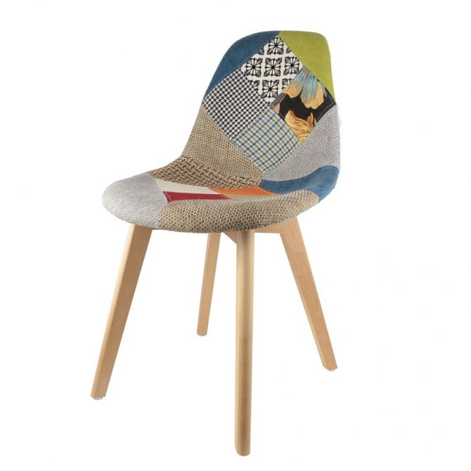 Chaise scandinanve Patchwork - 5