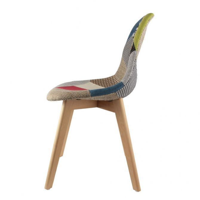 Chaise scandinanve Patchwork - 6