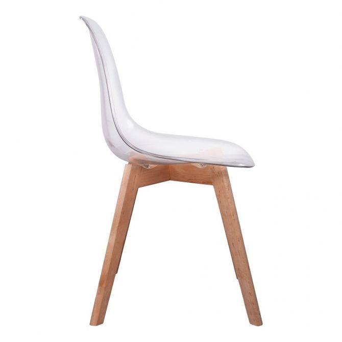 chaise scandinave coque polypropyl ne lot de 2 transparent. Black Bedroom Furniture Sets. Home Design Ideas