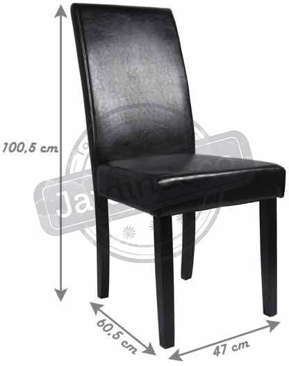chaises en simili cuir romy lot de 2 pro 1098 - Chaise Simili Cuir
