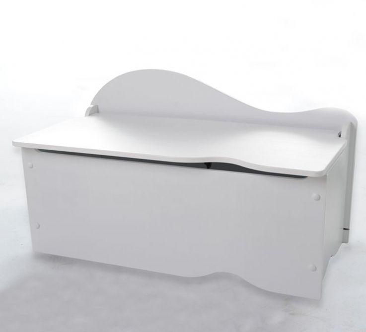 coffre jouets capucine blanc. Black Bedroom Furniture Sets. Home Design Ideas