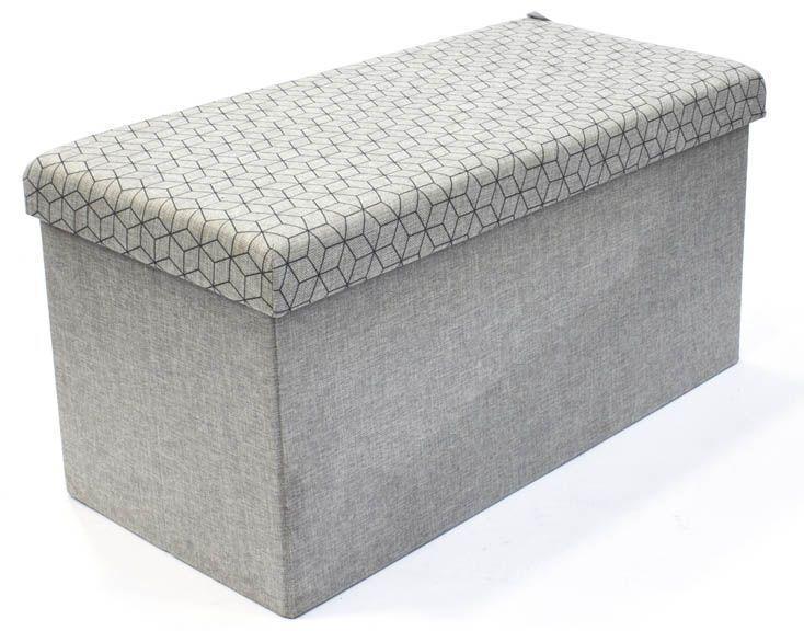 coffre rangement banc tissu. Black Bedroom Furniture Sets. Home Design Ideas