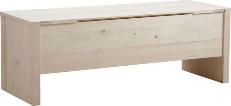 coffre de rangement en bois brut. Black Bedroom Furniture Sets. Home Design Ideas