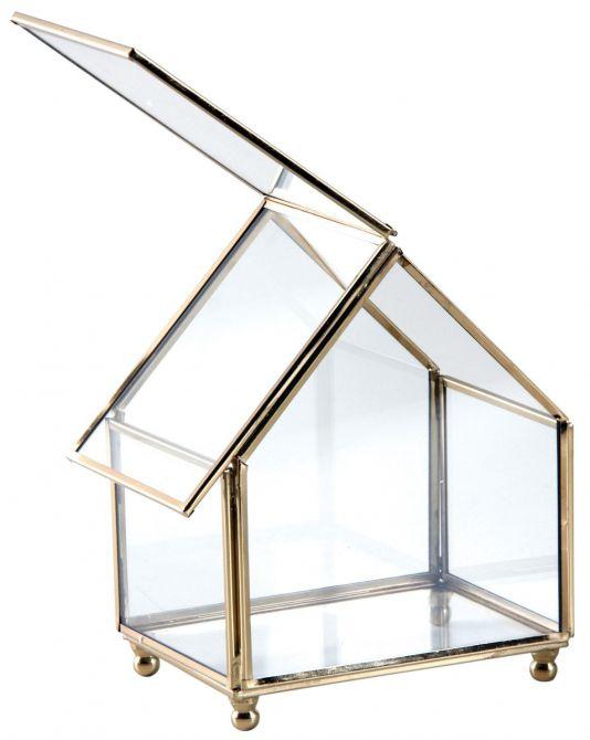 coffret bijoux en laiton et verre. Black Bedroom Furniture Sets. Home Design Ideas