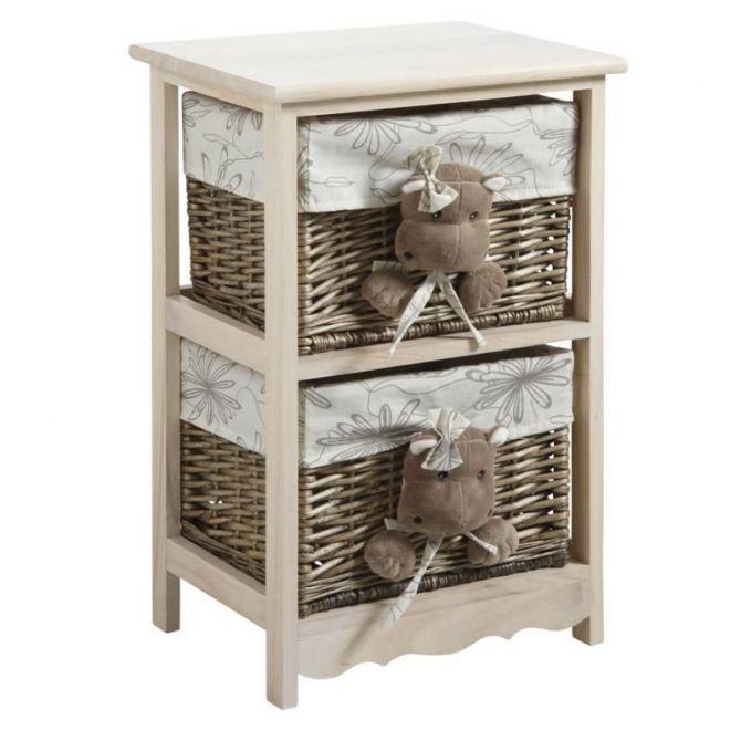 commode 2 tiroirs hippopotames. Black Bedroom Furniture Sets. Home Design Ideas