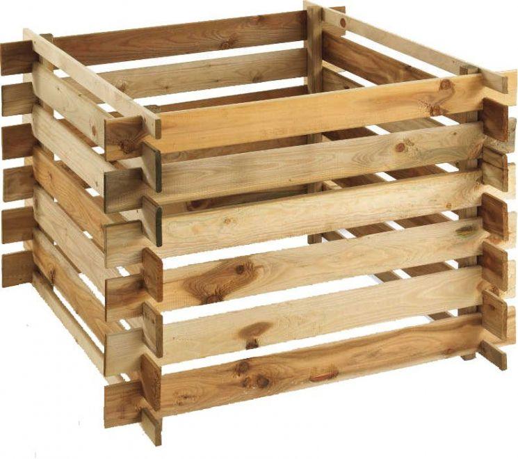 composteur en bois 570 l. Black Bedroom Furniture Sets. Home Design Ideas