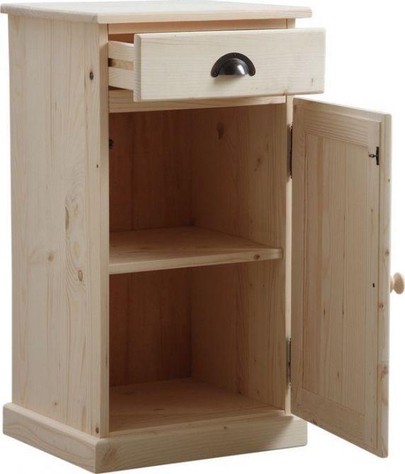 Confiturier en bois brut 1 tiroir 1 porte for Petit meuble tiroir bois brut