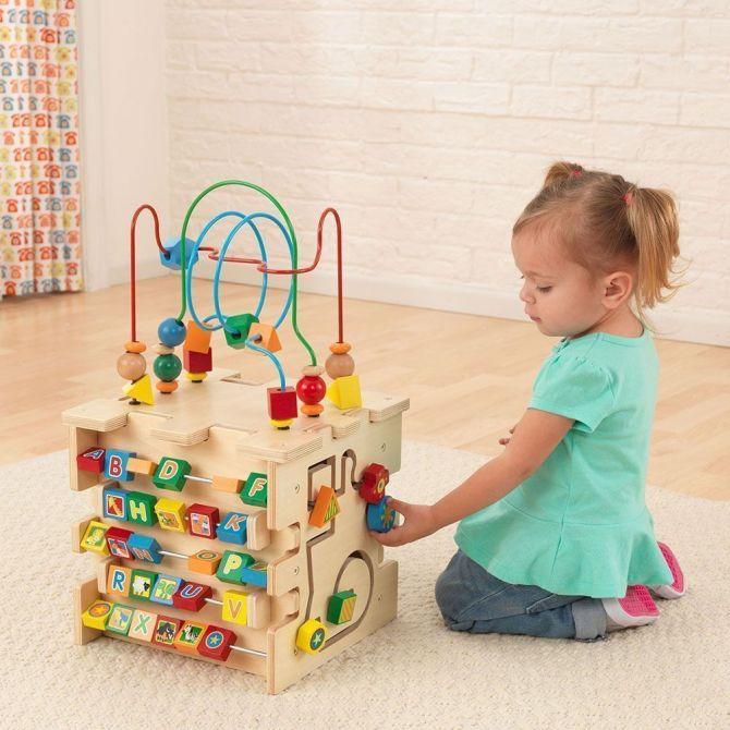cube d 39 veil multi activit en bois. Black Bedroom Furniture Sets. Home Design Ideas