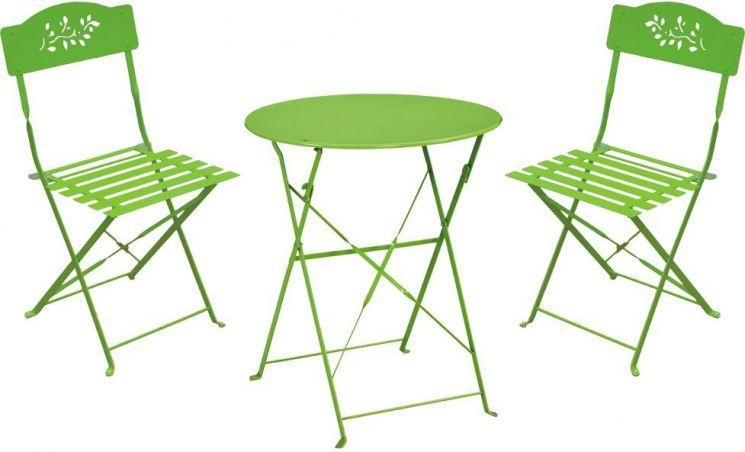 Ensemble table et chaise de jardin adapté aux balcons - Jardindeco