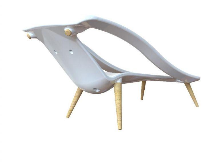 fauteuil bain de soleil 2 en 1 cr me. Black Bedroom Furniture Sets. Home Design Ideas
