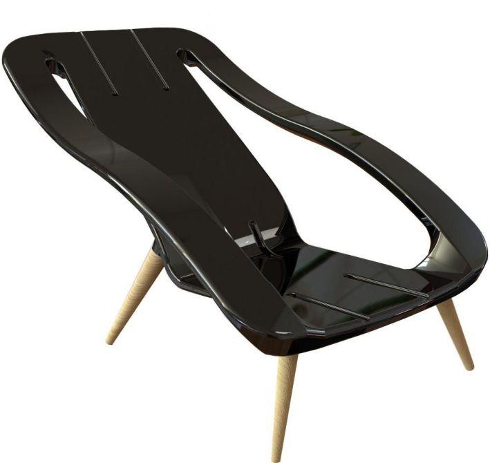 fauteuil bain de soleil 2 en 1 noir. Black Bedroom Furniture Sets. Home Design Ideas