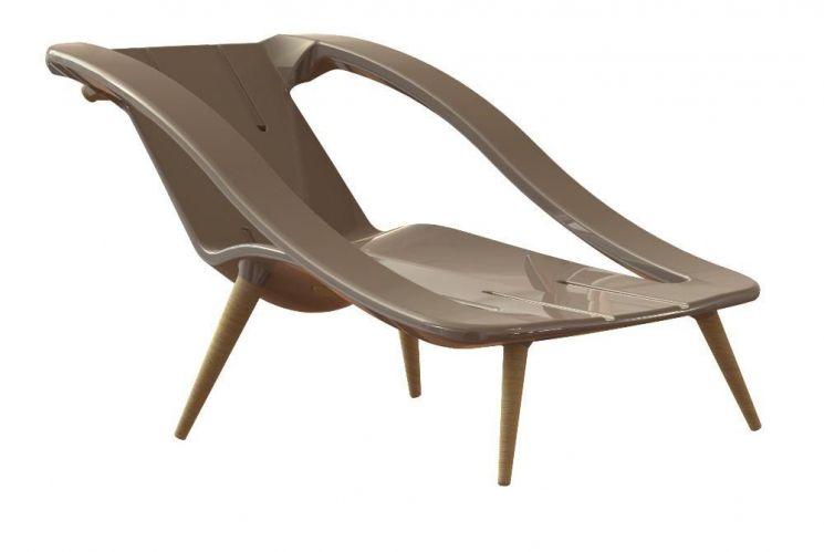 fauteuil bain de soleil 2 en 1 taupe. Black Bedroom Furniture Sets. Home Design Ideas