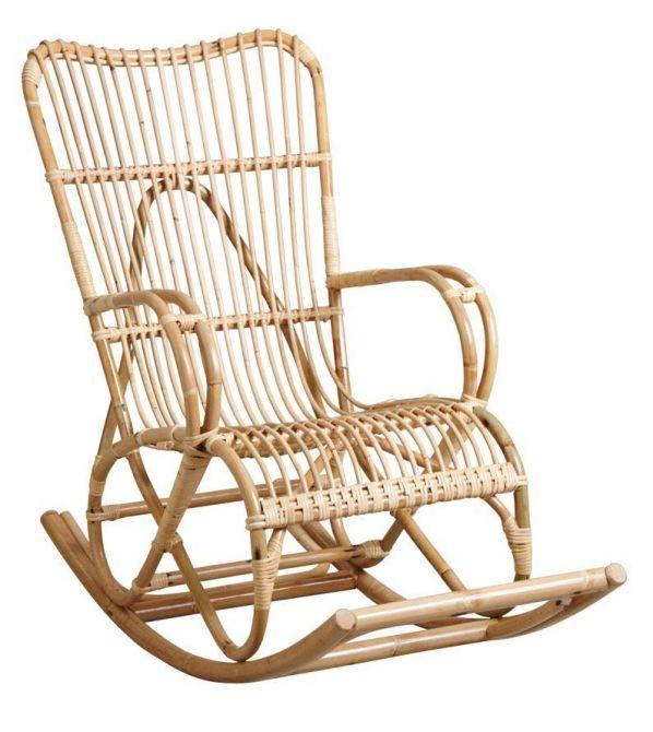 fauteuil bascule en manau naturel. Black Bedroom Furniture Sets. Home Design Ideas