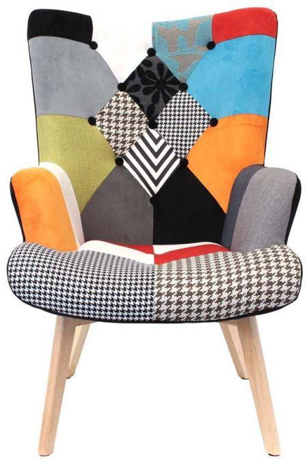 Fauteuil design color patchwork - Fauteuil design colore ...