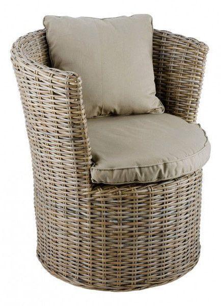 fauteuil haut rond kubu. Black Bedroom Furniture Sets. Home Design Ideas