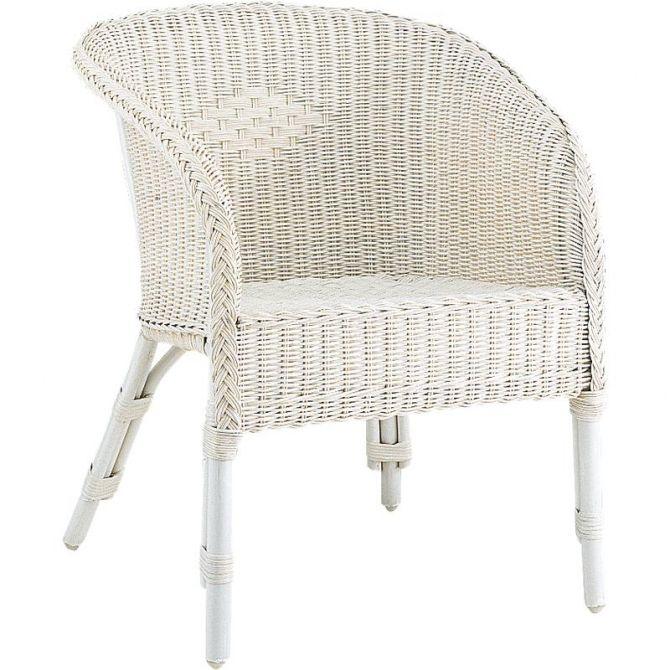 fauteuil moelle de rotin co ncidence blanc. Black Bedroom Furniture Sets. Home Design Ideas
