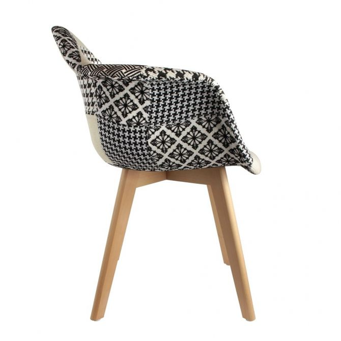Fauteuil scandinave Patchwork - THE CONCEPT FACTORY