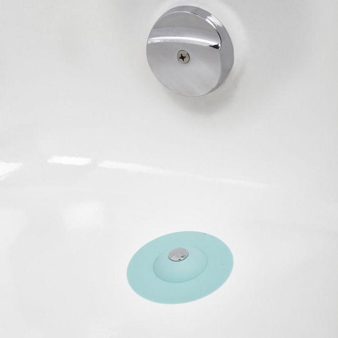 filtre cheveux et bouchon de douche 2 en 1 bleu. Black Bedroom Furniture Sets. Home Design Ideas