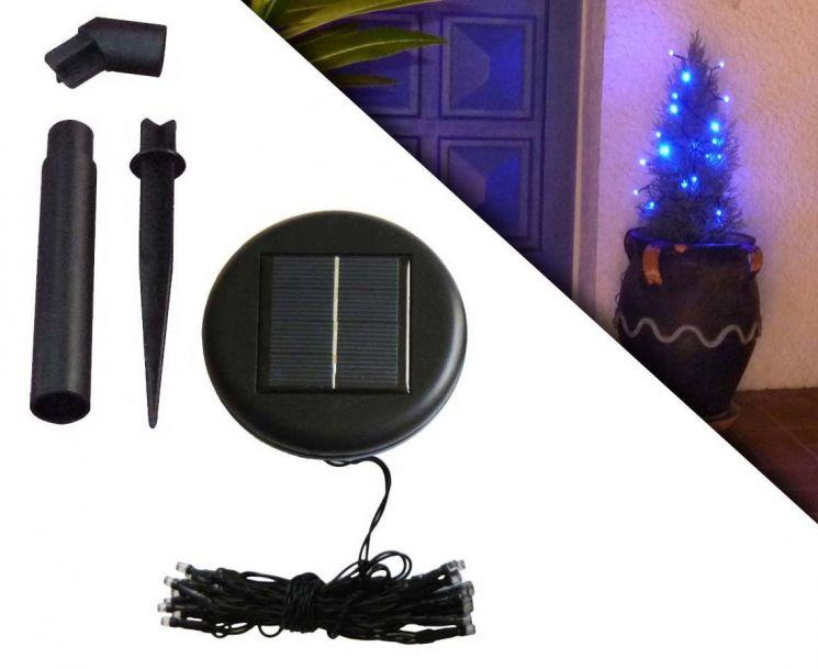 guirlande solaire 20 leds bleu. Black Bedroom Furniture Sets. Home Design Ideas