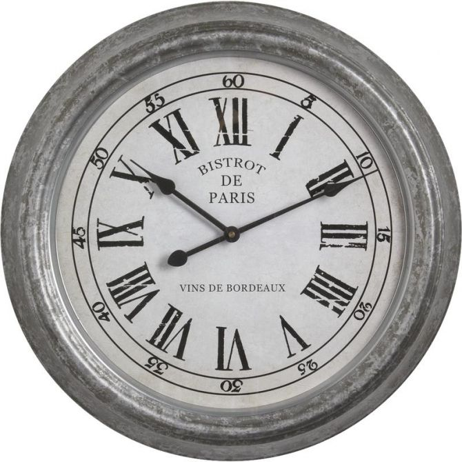 Horloge bistrot de paris for Horloge murale style bistrot