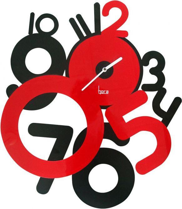 Horloge contemporaine freaky rouge - Horloge murale contemporaine ...