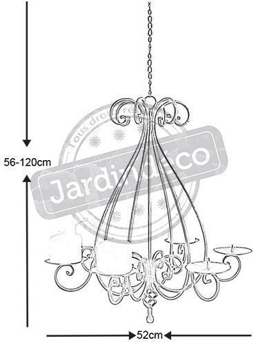 Lustre chandelier 6 bougies - AUBRY GASPARD
