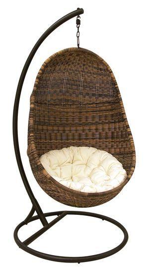 fauteuil oeuf suspendu en r sine. Black Bedroom Furniture Sets. Home Design Ideas